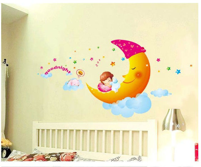 Cute Cartoon Skyrim Bedroom Decoration Crystal Wall Stickers For Kids Room Painting Diy Bathroom Art Poster