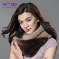 Winter fur scarves for women real mink fur scarf thick warm winter fur ring top brand new fashion good quality fur scarf