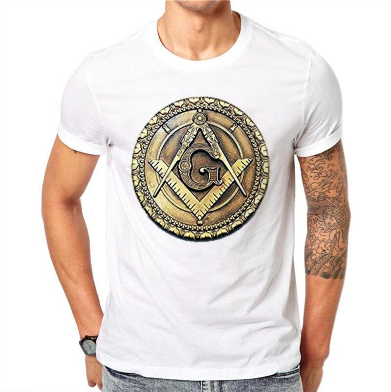 100% Cotton Freemasonry Badge Masonic G Design Summer Cool Men T Shirts Fashion Man O-neck Short Sleeve Tops Tees Clothes 4xl