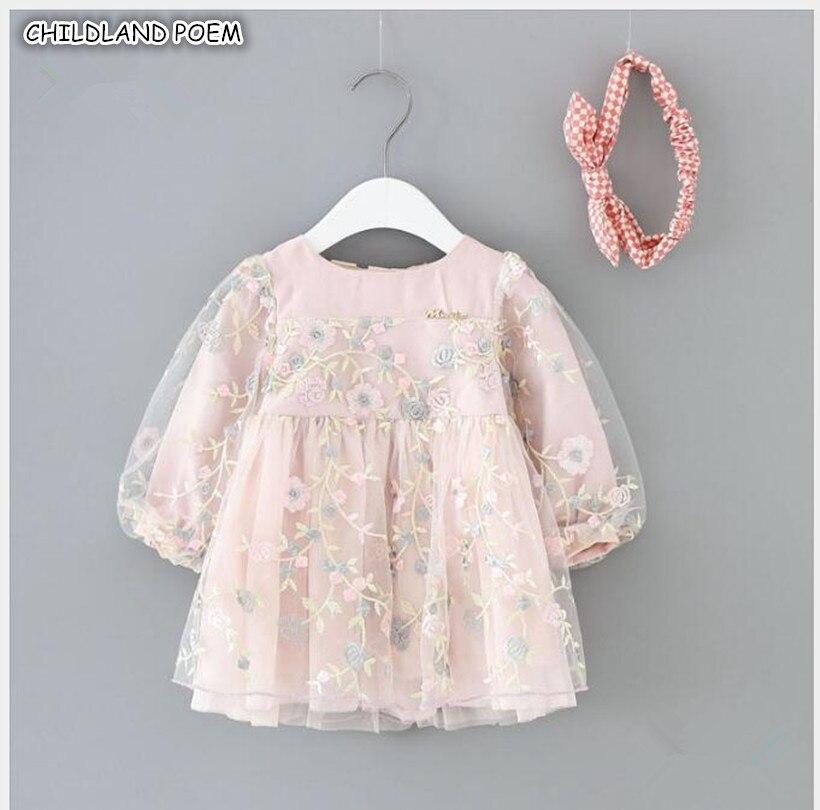 c7f87fb25f80 Baby Girls Dress Autumn Newborn Baby Dress Infant 1st First Birthday Party  Wedding Dress Long-sleeve Princess Vestido Infantil