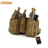 SPANKER 1050D Nylon Combination Ammo Clip Bag Outdoor Tactical MOLLE Leg Holsders Magezine Pouch Military Hunting