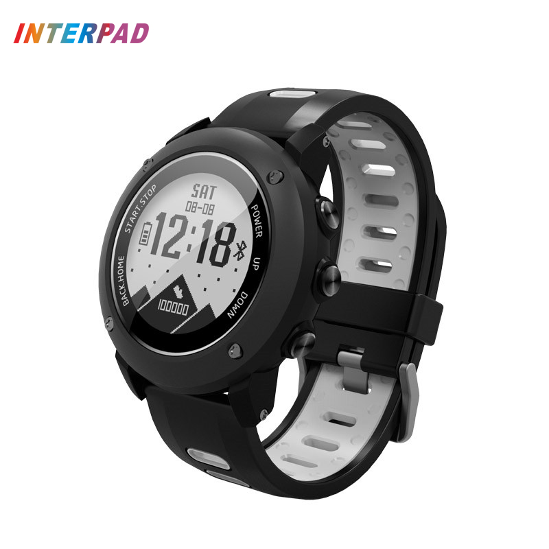 Interpad Smart Watch With GPS IP68 Professional Waterproof Smartwatch Heart Rate Monitor Smartwatch For Swimming Riding Hiking interpad smart watch professional sports algorithm altimeter thermometer smartwatch heart rate monitor smart watch for xiaomi