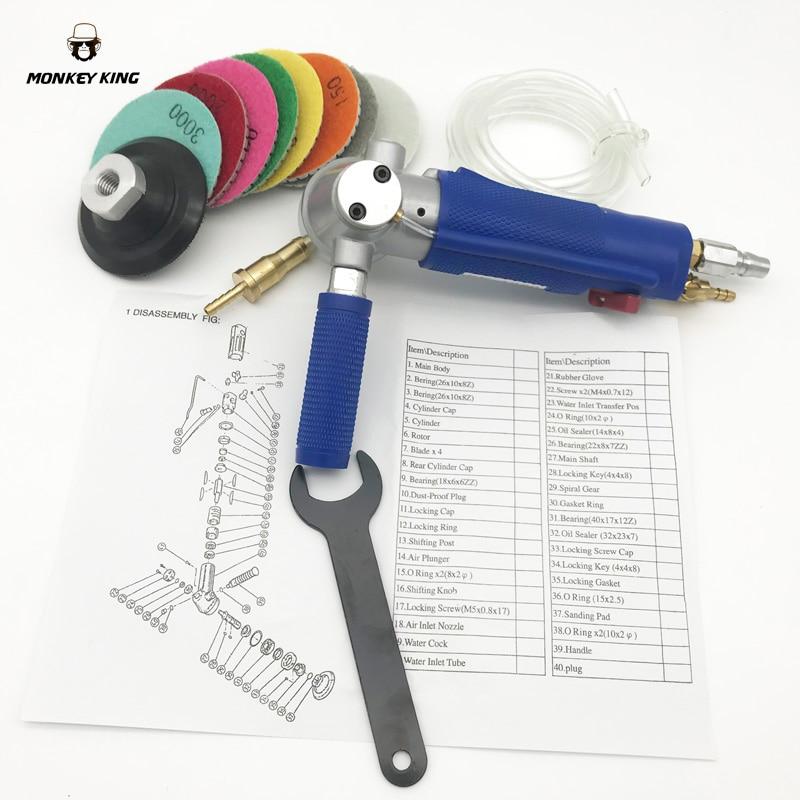 Professionaalne pneumaatiline vesilihvija õhu niiske poleerikivi - Elektrilised tööriistad - Foto 2