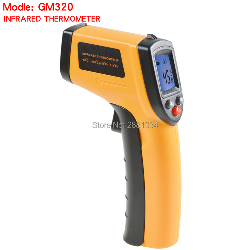 Hight quality Infrared thermometer GM320 Non-Contact Laser Gun Infrared IR Thermometer LCD digital display -50~380 degree