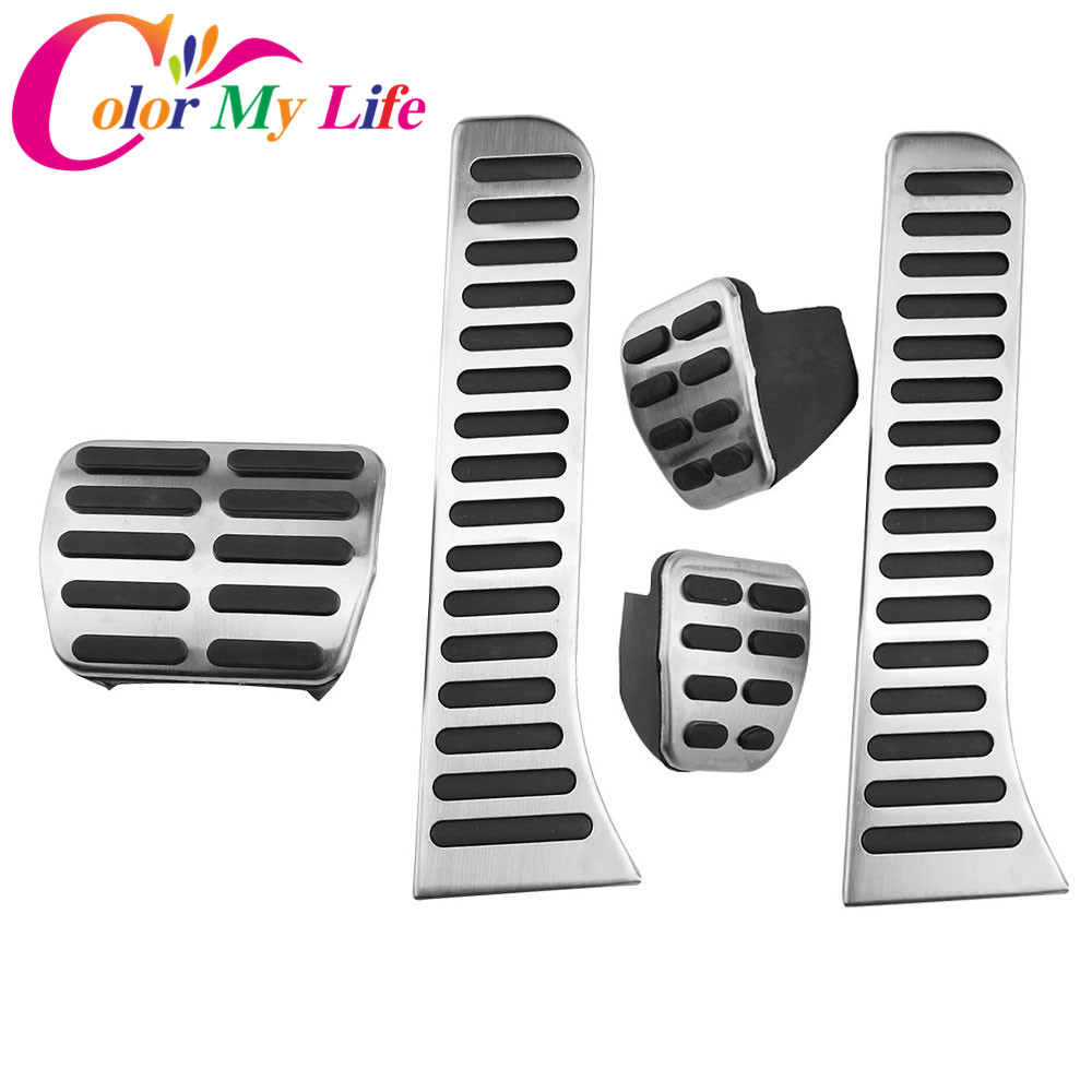 Color My Life Car Gas Pedal Brake Pedals Cover for Volkswagen VW Caddy 2004 - 2015 Auto Pedals Kit Parts