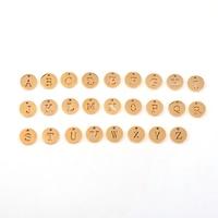 CJJ001 2017 New Arrive Alphabet 26 Letters A Z Charms Women Bracelet Bangle Necklace DIY Fine
