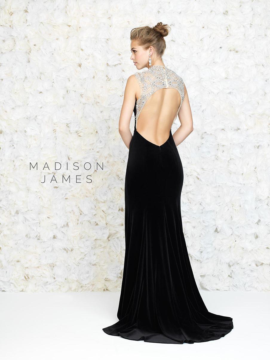 2016 Fall High Neck Black Velvet Evening Dress Formal Long Split Leg ...