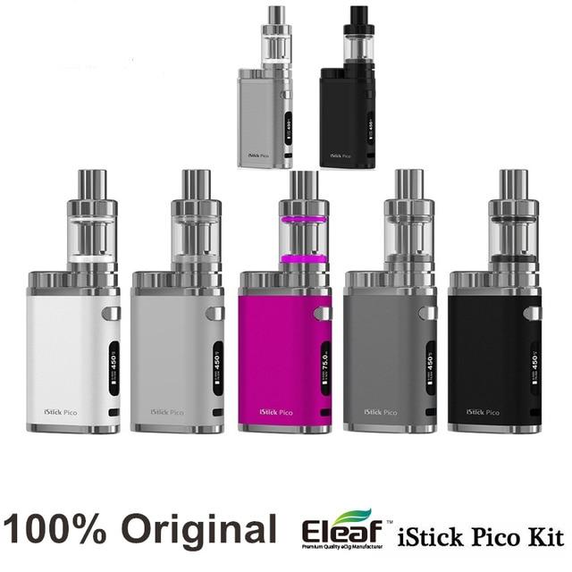 100% Оригинал ismoka Istick eleaf vape Пико Комплект Istick Пико Mod75W окно мод 2 мл мело 3 мини бак склад электронной сигареты испаритель