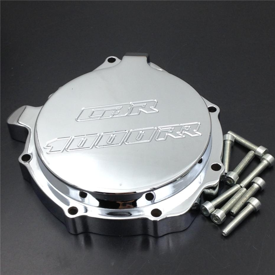 For Motorcycle Honda CBR1000RR 2004 2005 2006 2007 Engine Stator cover CHROME Left side arashi motorcycle parts radiator grille protective cover grill guard protector for 2003 2004 2005 2006 honda cbr600rr cbr 600 rr