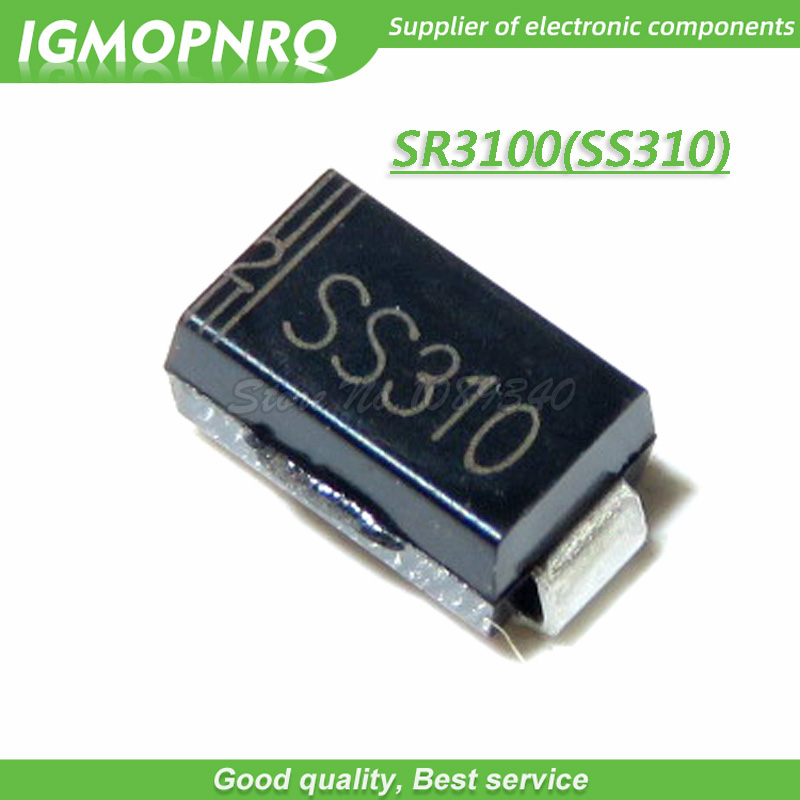 Schottky rectifying THT 100V 3A DO201AD Ufmax 850mV TAIWAN S 8X SR310 R0 Diode