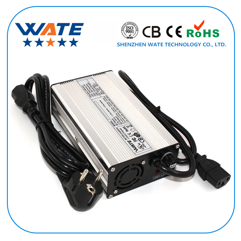 50.4V 4A Charger 44.4V Li-ion Battery Smart Charger Used for 12S 44.4V Li-ion Battery High Power With Fan Aluminum Case