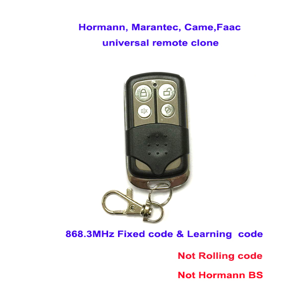 Hormann, marantec, came,faac universal 868MHZ FIXED CODE learning code replacement remote control duplicator free shipping