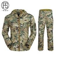 Hot! TAD Softshell Haifischhaut Anzüge Fleece Jacke Wasserdichten Outdoor-Camping Wandern Sport Jacke Und Hose 12 Farben