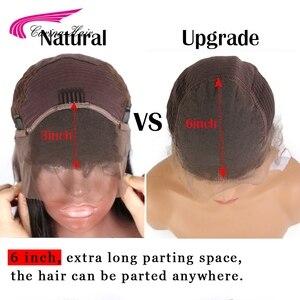 Image 5 - Pelucas de cabello humano brasileño Carina con encaje frontal pre desplumado Ombre 1b/33 pelo Remy ondulado con reflejos y luces bajas