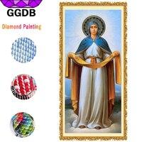 מכירה של חפצי אמנות ציור יהלומי DIY להגדיר טלאי GGDB המדונה ריינסטון עבור אמנות רצועת הכלים רקמה מלא יהלומי פסיפס קישוט