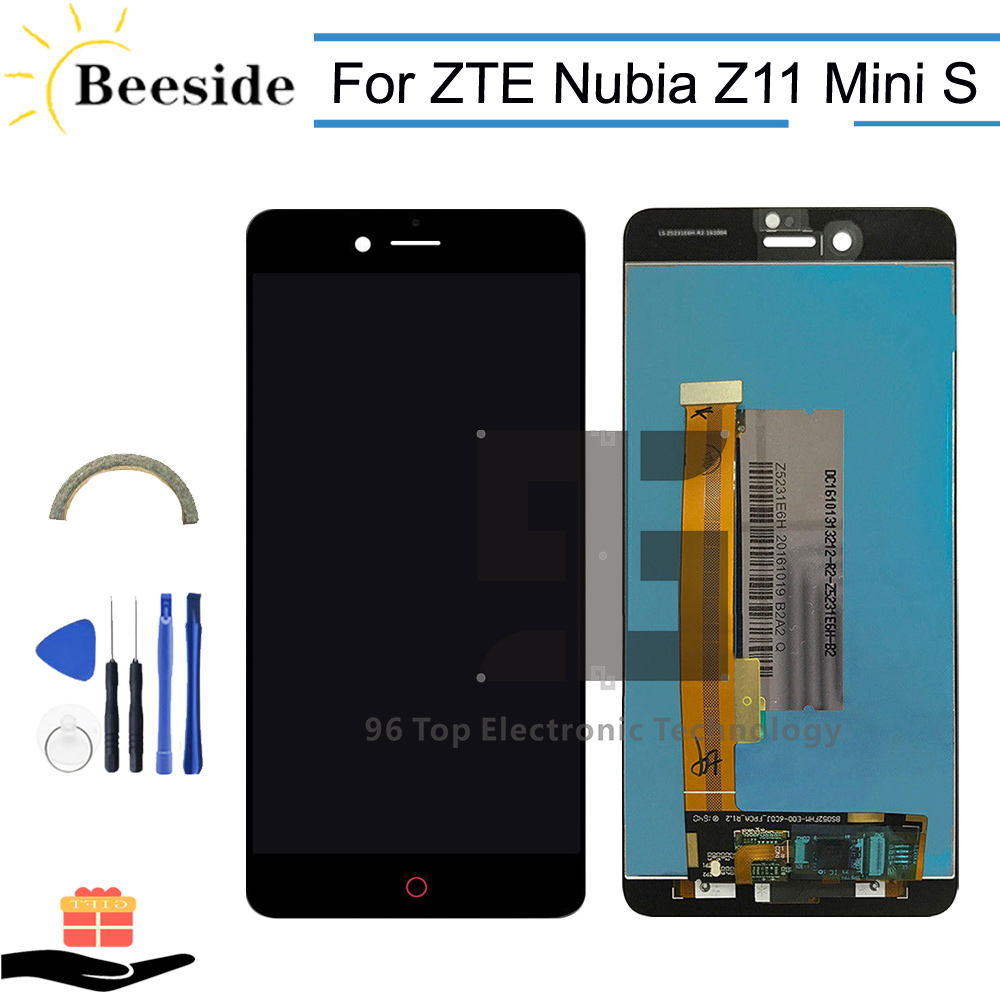 AA+ Quality LCD 5.2'' Black / White For <font><b>ZTE</b></font> <font><b>Nubia</b></font> <font><b>Z11</b></font> <font><b>Mini</b></font> S NX549J LCD Display <font><b>Touch</b></font> <font><b>Screen</b></font> Digitizer Assembly Replace image