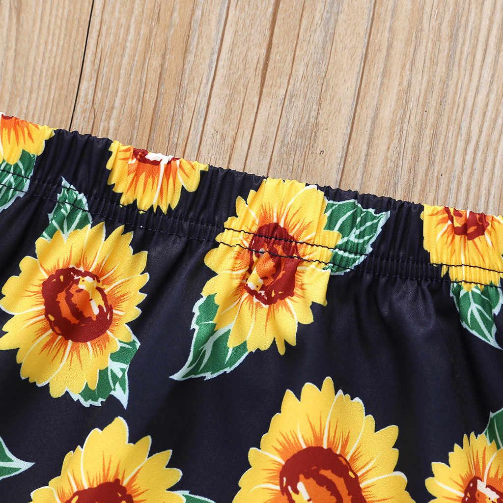MUQGEW 2019 nueva moda verano Mini vestido para niños pequeños bebé niña girasol Floral falda princesa Mini vestido ropa traje