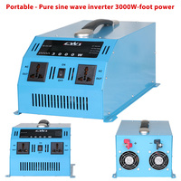 Portable 3000W Inverter 12 220v inverter Multi Protection Charger Veicular 12 220 voltage converter With Handle Pure Sine Wave