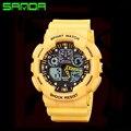 Estilo militar Reloj Relogios masculinos Nueva Pantalla Dual Relojes Digitales Relojes de Los Hombres Relojes Deportivos Banda de Silicona A Prueba de agua