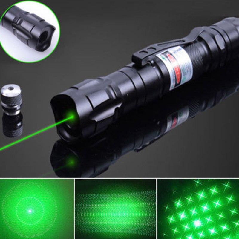 Militar Visível Feixe de Luz Verde Caneta Ponteiro Laser Lasers De Alta Potência Ultra Brilhante Caneta Lazer Lanterna Dropshipping