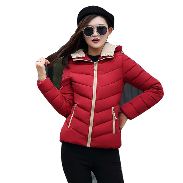 2018 full cotton liner zipper solid new arrival slim cotton jacket zippers cotton-padded winter women coat 1