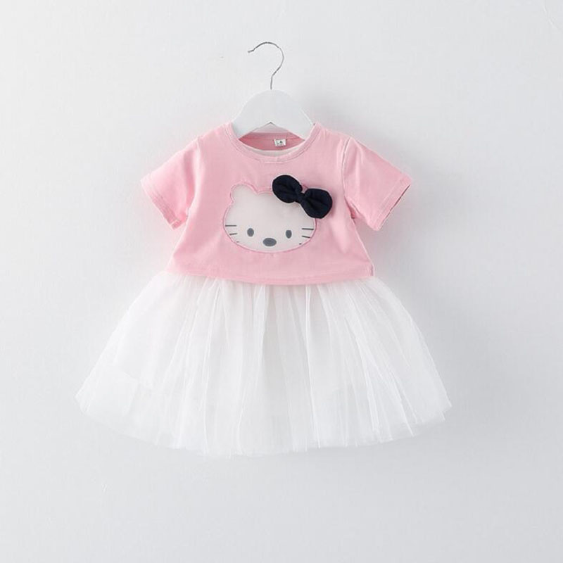 ca3f5158cbe5b New 0 24m Summer Baby Girl Dresses Casual Style Bow Lace Dress cute cat  Kids Clothes Vestidos Bebes Baby Clothing Voile Dress-in Dresses from  Mother & ...