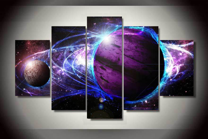 HD Printed cosmos galaxy star energy Painting on canvas room ...