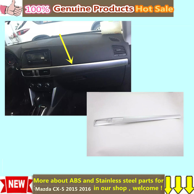 car styling cover detector stick ABS Middle co-pilot Glove box front trim lamp trim panel 1pcs For Mazda CX-5 CX5 2015 2016