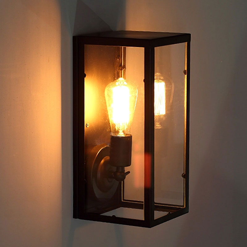 Retro Loft Bedside Balcony Stair Corridor Room Pub Restaurant Cafe Lamp Pandora Box Wall Lampvintage E27 Sconce Light Bra In LED Indoor Lamps