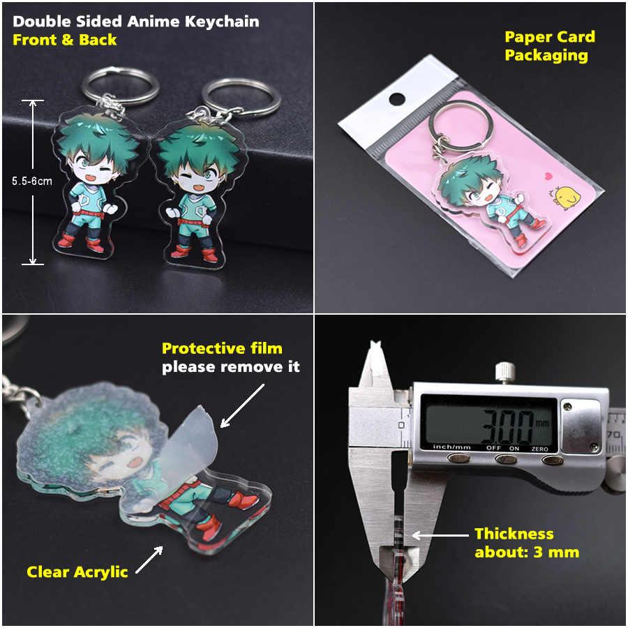 Death note chians chibi yu-gi-oh cartoon keyrings dupla face bonito anime acrílico chaveiro acessórios PCB21-27
