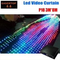 P18/19/20 To Choose 3M*8M Fire proof Led Video curtain 30 Kinds Program Led Graphic curtain Stage Lighting Computer/DMX Control