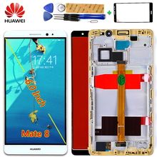 AAA IPS LCD display For Huawei Mate 8 touch screen Digitizer Sensor Assembly 6.0 inch 1920*1080 Frame with Free Glass film Tools