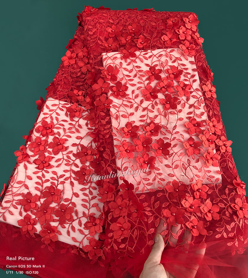 allover embroidery leaves 3D appliques floral African french lace 2018 beaded Nigerian tulle lace fabric high quality 5 yardsallover embroidery leaves 3D appliques floral African french lace 2018 beaded Nigerian tulle lace fabric high quality 5 yards