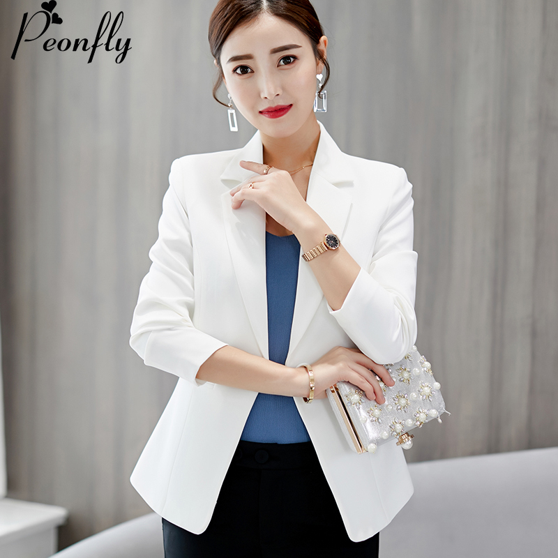 Flight Tracker 2019 Solid Womens Blazers Coat Spring Autumn Long Sleeve Business Jacket Coat Black Pink Slim Fit Ladies Work Ol Suit Tops Blue Suits & Sets