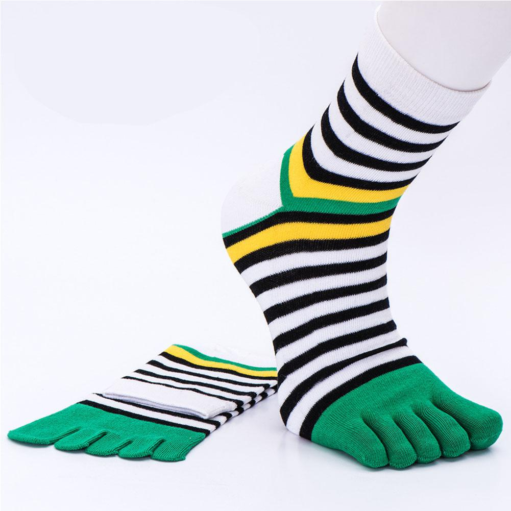 Mounchain Sport Sock Short Tube Cotton Stripes Split Toe Sock Sweat Absorption Breathable Christmas Gift