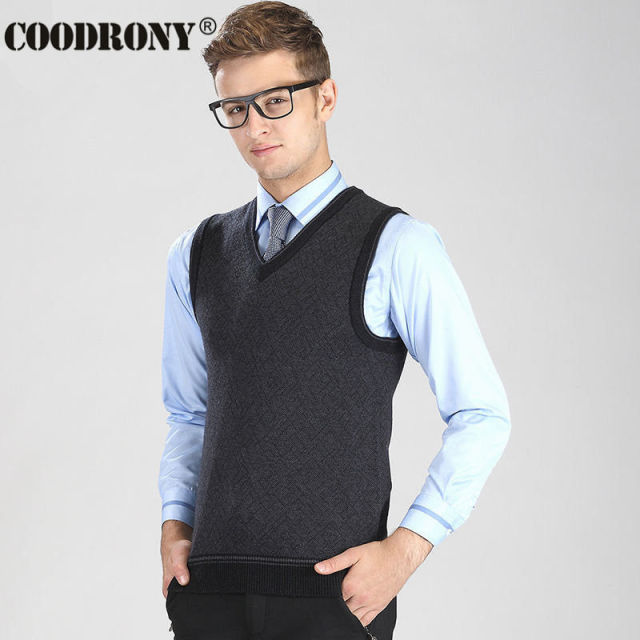 33d1e01e8c HS 2016 New Autumn Winter Thick Warm Cashmere Sweater Men Business Casual  V-Neck Vest