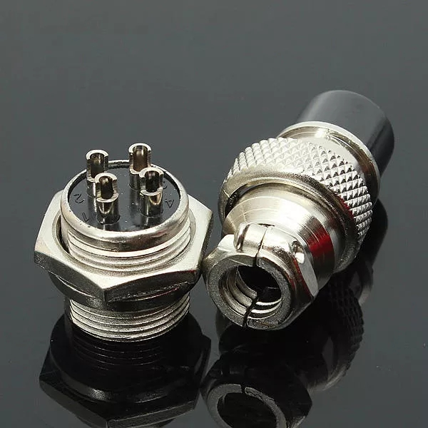 GX16-4 4-Pin 16mm  Male And Female Wire Panel Metal Round Connector Aviation Connector Socket Plug