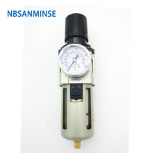 NBSANMINSE Air Preparation Unit AW2000 1/8 1/4 3/8 1/2 3/4 1 One Source Treatment Filter With Regulator Autodrain