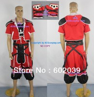 Kingdom Hearts 2 Sora Brave Form Cosplay Costume include necklace prop and gloves