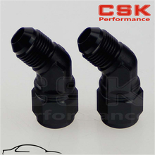 2PCS Male -6 AN To Female 45 Degree Swivel Coupler Union Adapter Fitting