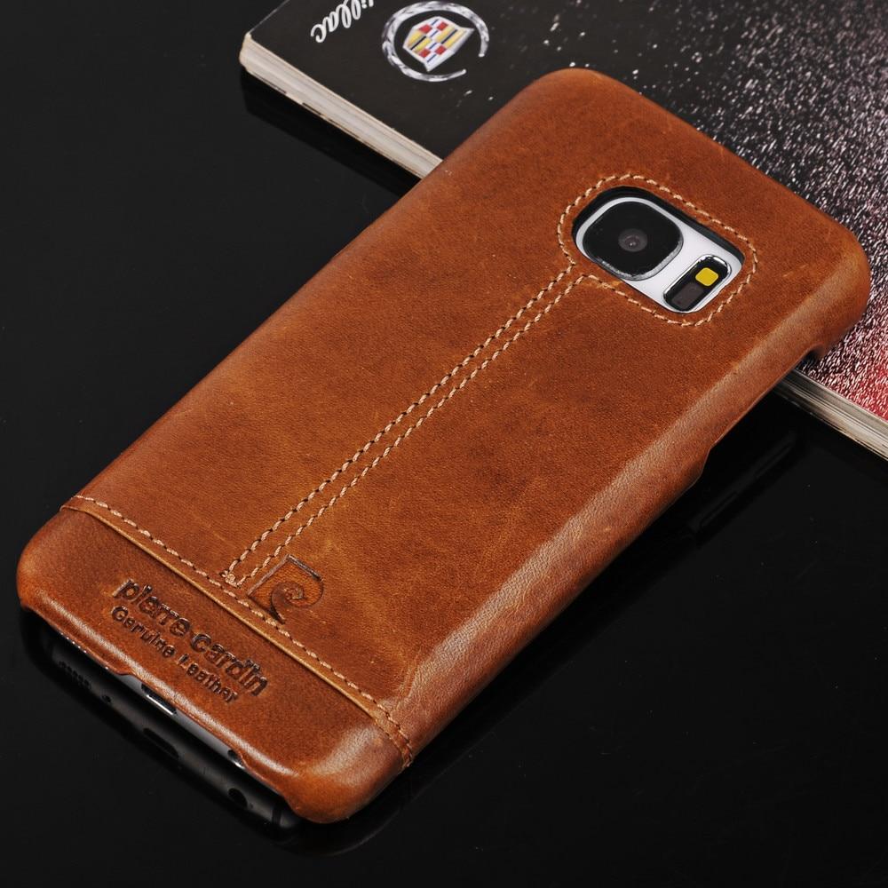 Цена за Pierre Cardin Фирменная Новинка натуральная кожа чехол для Samsung Galaxy S7 S7 edge/S6 S6 Edge Plus Note5 случае S8 S8 плюс Чехол Крышка