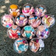 Sleeping Baby Reborn Bebe Doll Ball Protective Shell Lovely Handmade Lifelike Baby Girl Boy Dolls Silicone Princess Toy For Kids цена