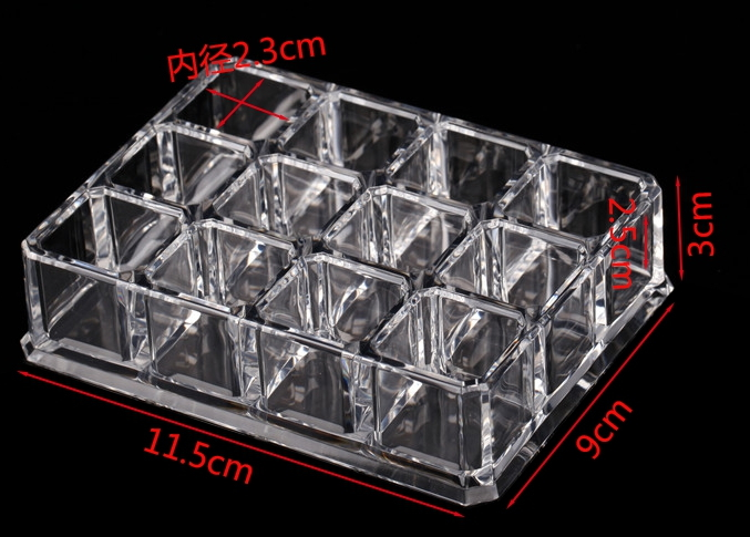 12grids Acrylic Lipstick rack Nail Polish holder Cosmetic Storage Cases  Makeup Organizer jewelry storage box same level style-in Storage Boxes &  Bins from ...