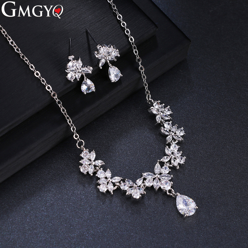GMGYQ African Jewelry Set Nigerian Wedding Earring And Necklace Sets Jewlery For Women Kids Jewellery For Girls