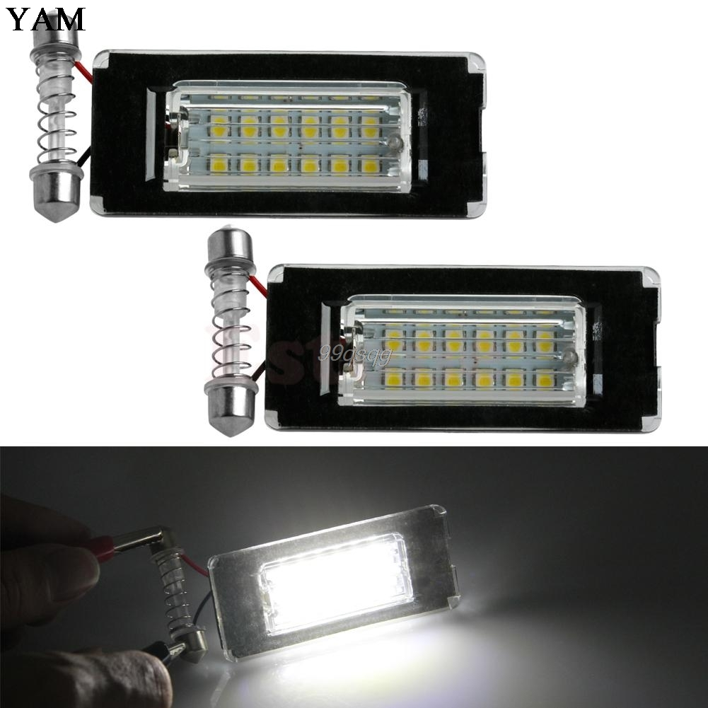 2X 18SMD License Plate Light LED Error Free Lamp For MINI Cooper R56 R57 R58 R59 Car Light Source Drop shipping 2pcs brand new high quality superb error free 5050 smd 360 degrees led backup reverse light bulbs t15 for jeep grand cherokee