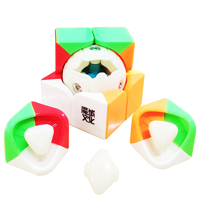 2016 Moyu Lingpo/Tangpo/Weipo Magique Cube 2x2x2 Stickerless Cubo Magie 2x2 concurrence Vitesse Puzzle Cubes Jouets Pour Enfants