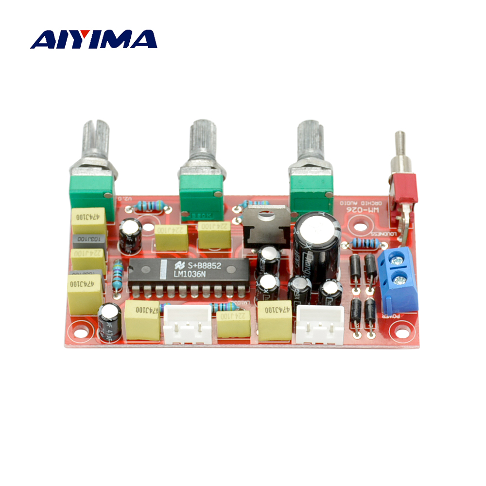 Aiyima HIFI Fever LM1036 Pre-amplifier Tone Board Bass Treble Volume Control pre-amp Board nickel har blue opals stone electric guitar bass volume tone control knob 3pcs