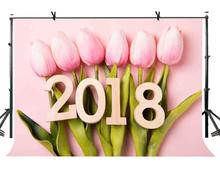 150x220cm Tulip Backdrop Minimalistic Pink Tulips Photography Background for Camera Photo Props