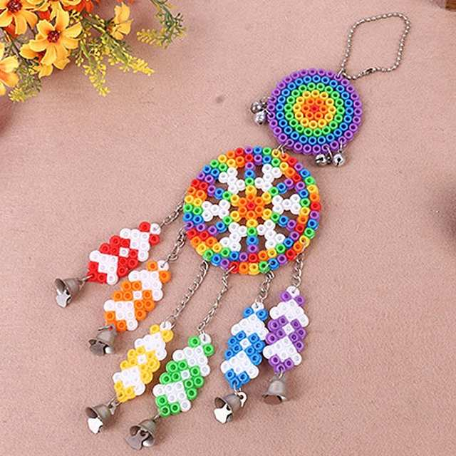 Online Shop Dream Windbell Puzzle Kit Two Patterns Perler Beads Ring
