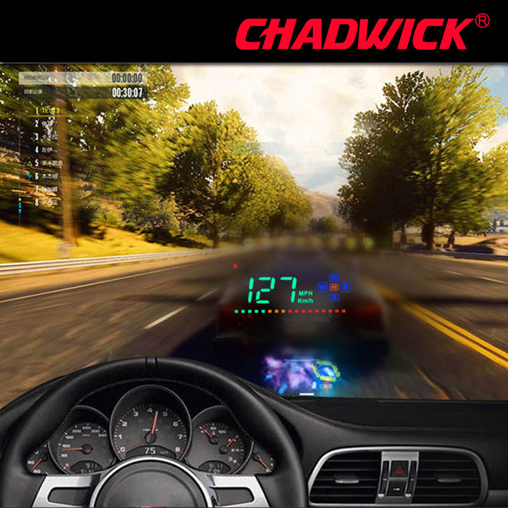 HUD Digital GPS Speedometer Head Up Display Auto Windshield Projector Electronics Car Speed Projector CHADWICK A2 accessories-in Head-up Display from Automobiles & Motorcycles
